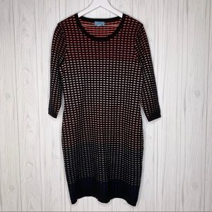 CeCe Jacquard Ombré Grid Ladies XL Dress